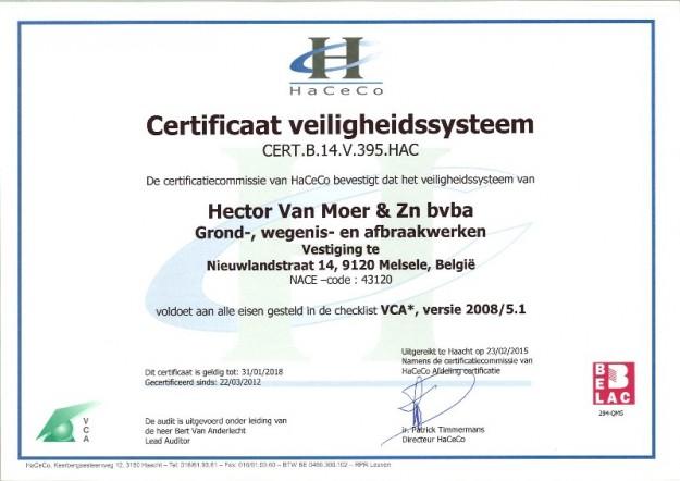 Verlenging VCA* Certificatie